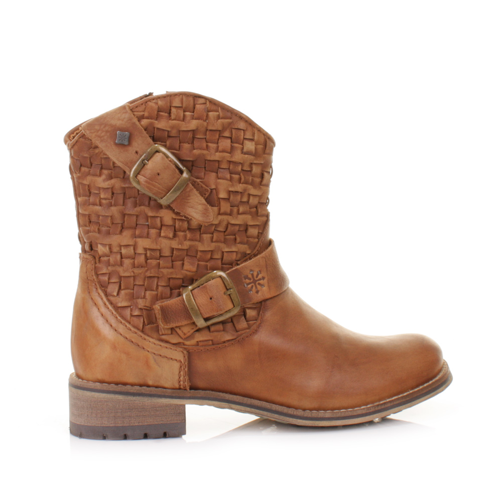Tan Leather Ankle Boots - Cr Boot