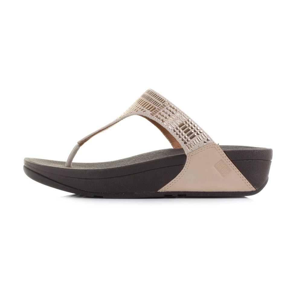 Womens sandals uk - Womens Fitflop Aztek Chada Rose Gold Wedge Flip Flop Sandals Uk Size Ebay
