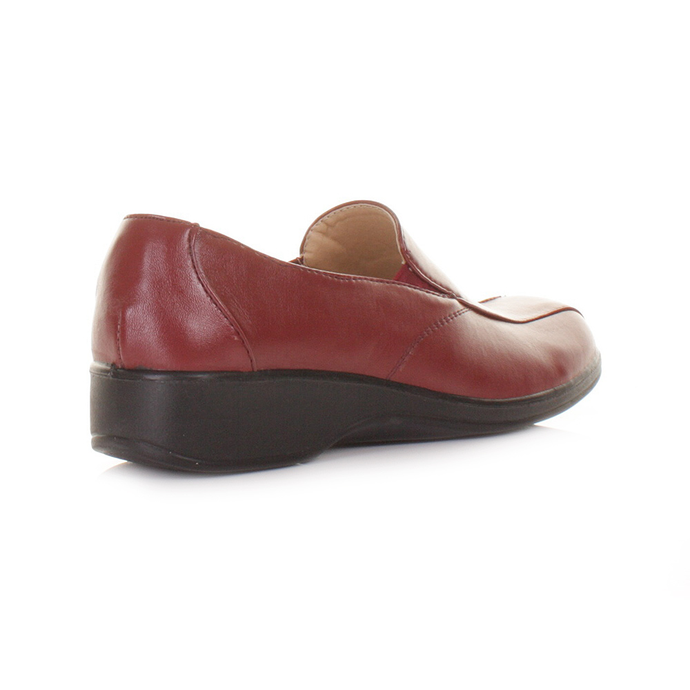WOMENS LADIES RED COMFY COMFORT DR LIGHTFOOT WORK SMART FLAT SHOES