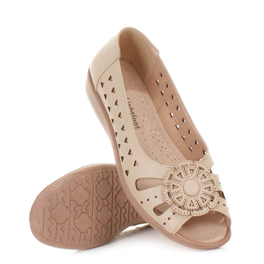 womens summer cushioned comfort fit flat slip on sandals