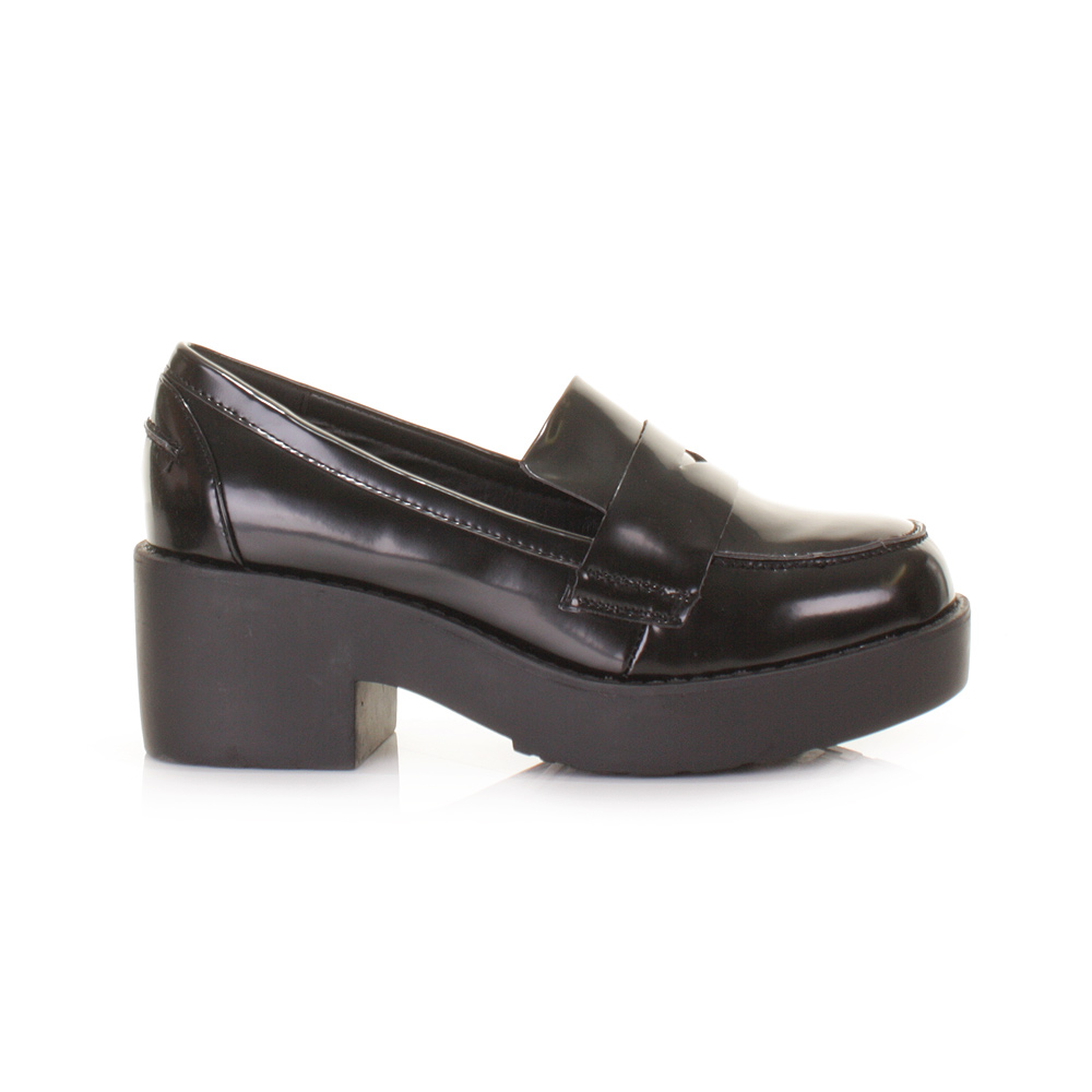 Funky Flat Black Shoes