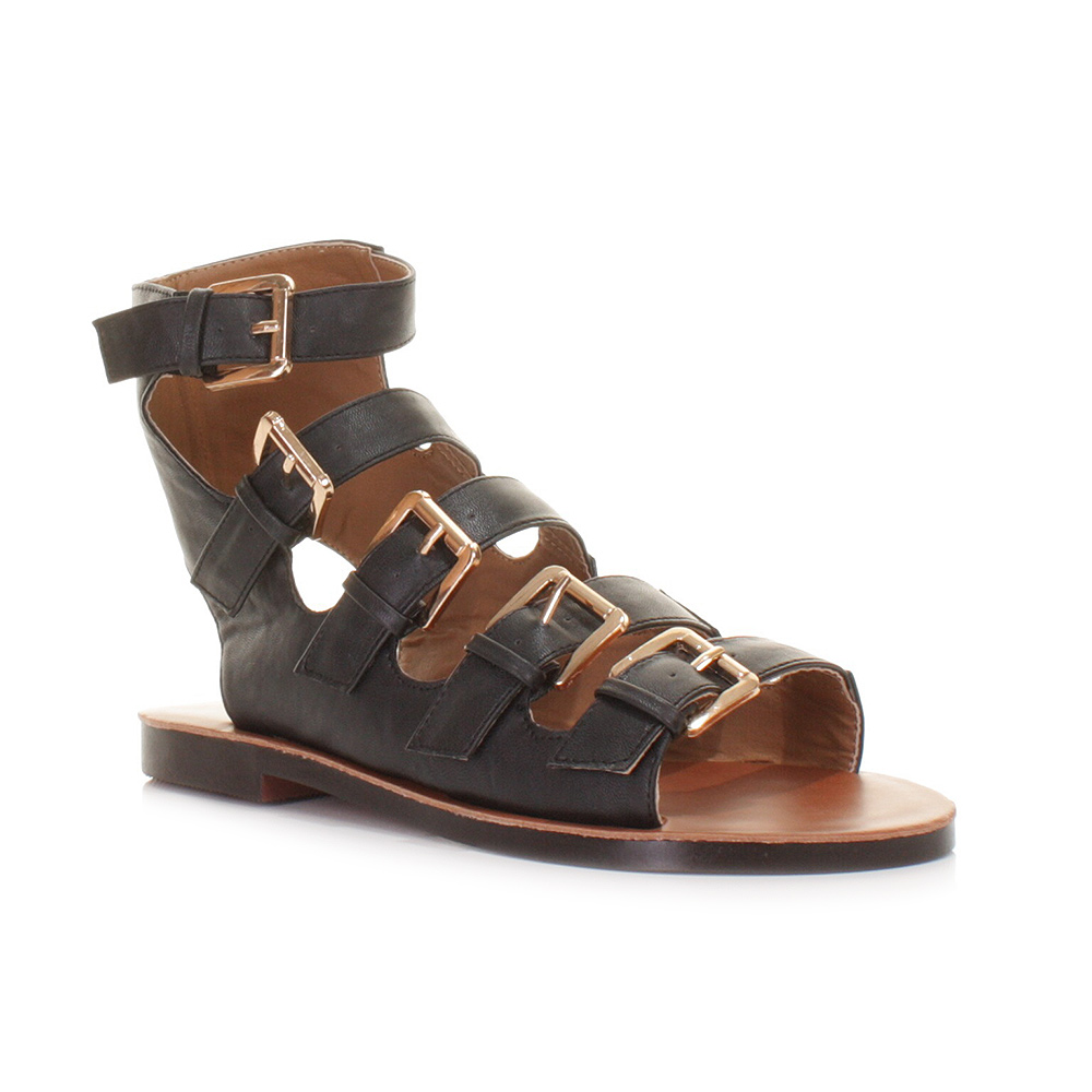 Original Black Flats Shoes For Women Black Sandals Black Flat Sandals Office