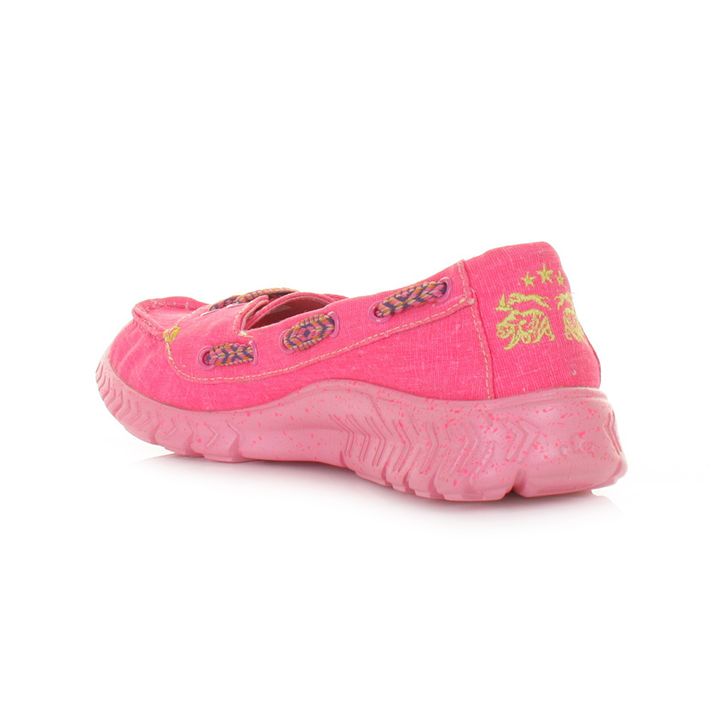 womens tigerbear wolfie pink slip on loafer flats shoes