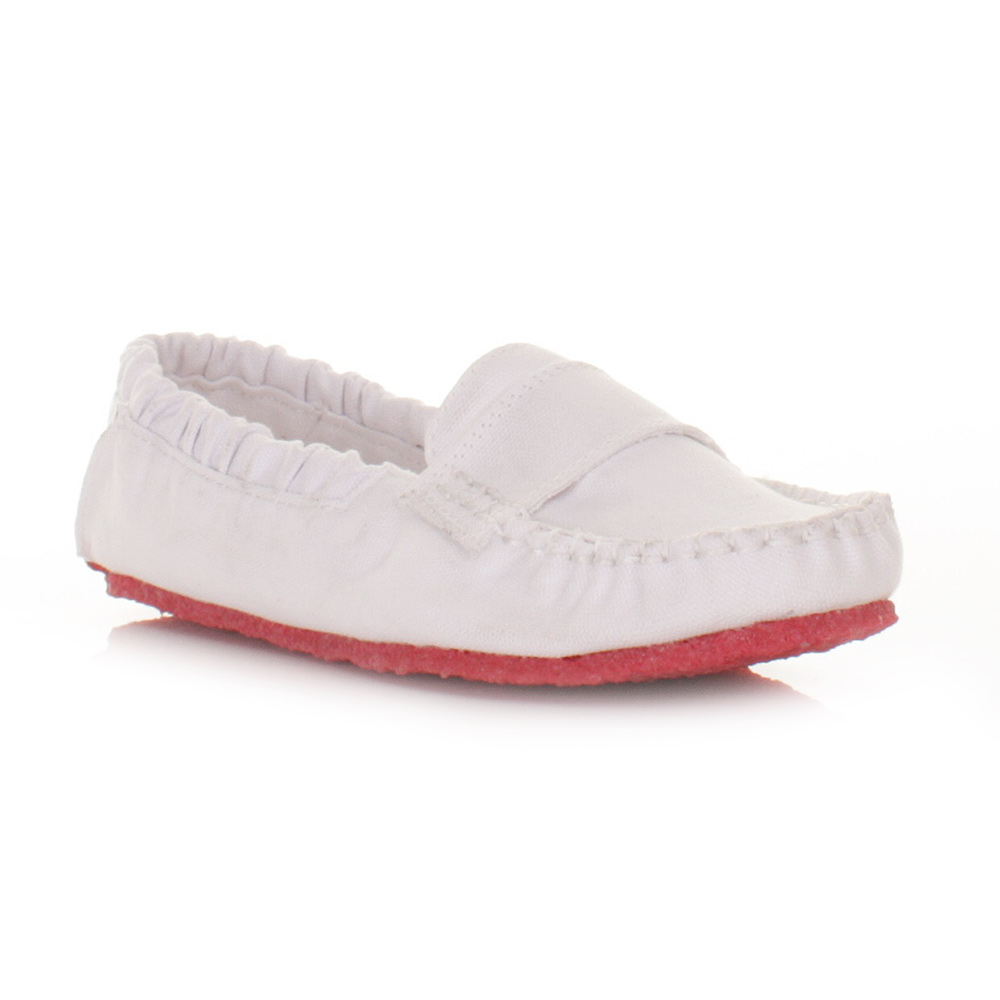 womens mocks saddle white canvas slip on loafers