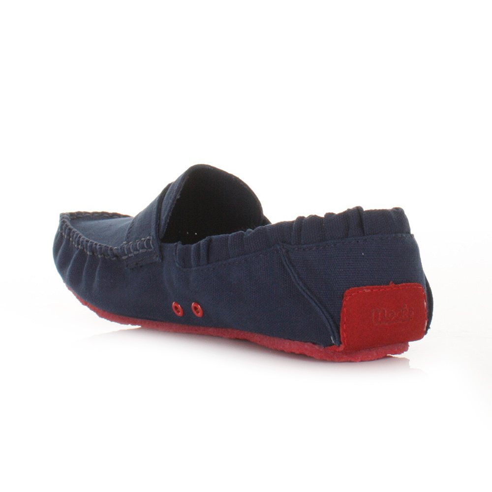Mens Mocks Navy Canvas Boat Shoes