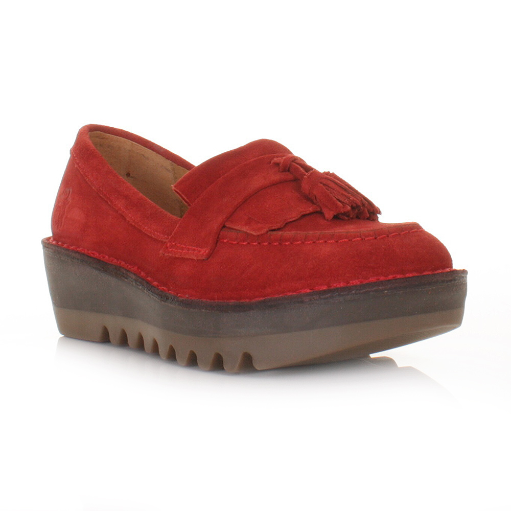 platform shoe womens fly juno real suede funky