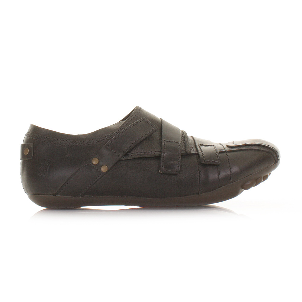Mens Fly London Black Leather Shoes