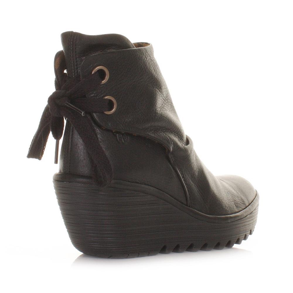 Next Black Leather Ladie Flat Shoes