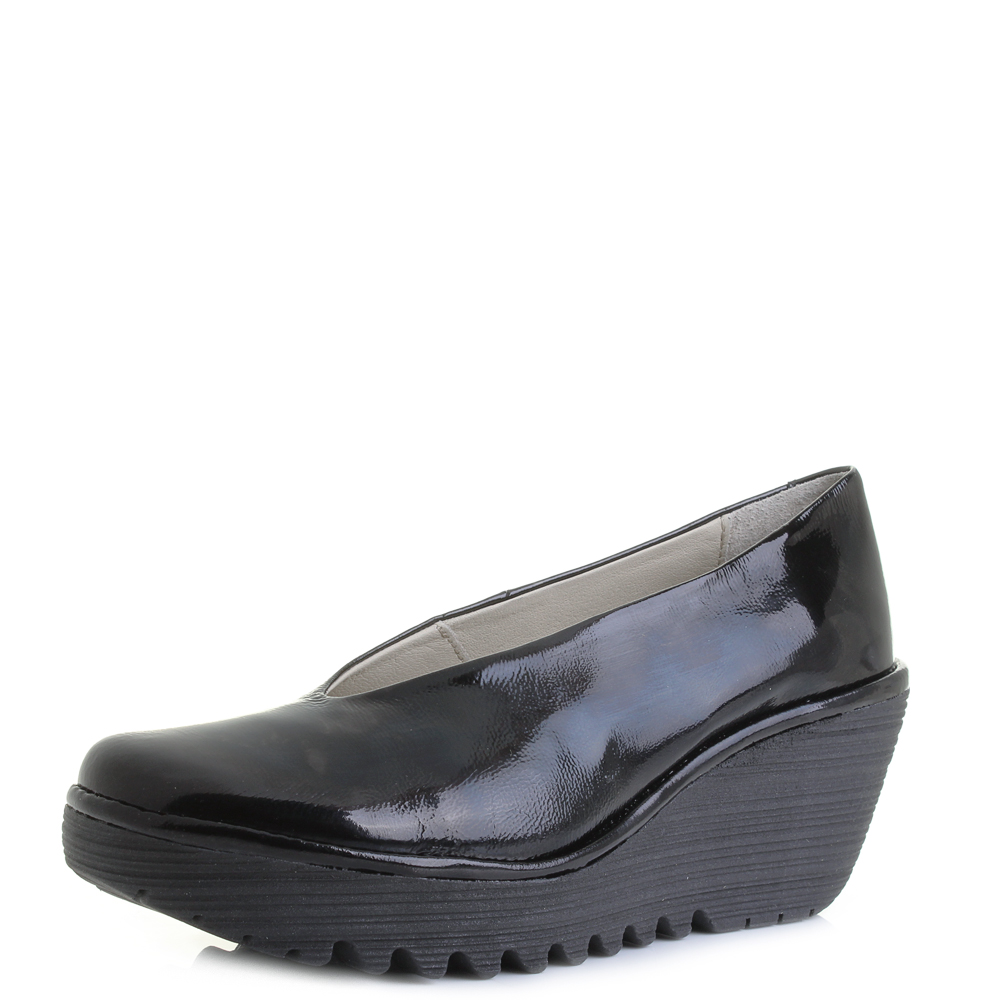 Fly London Yaz Slip On Wedge Shoes