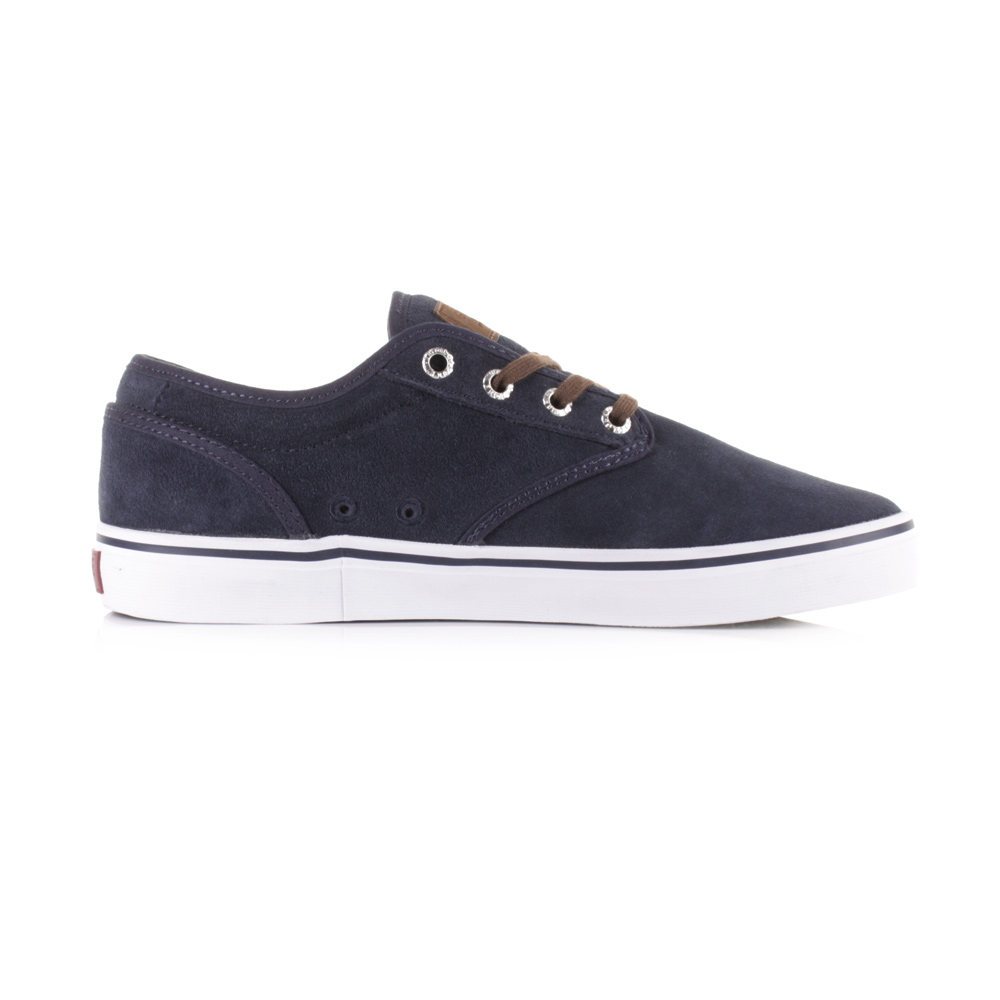 mens globe motley navy plaid suede leather casual trainers