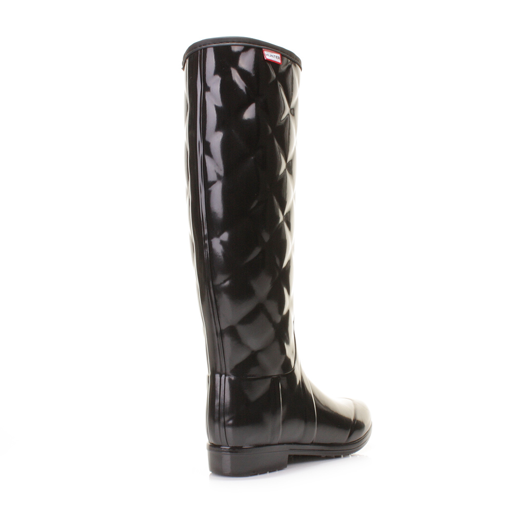 Fantastic  Womens Bitter Chocolate Sandhurst Savoy Quilted Wellington Boots