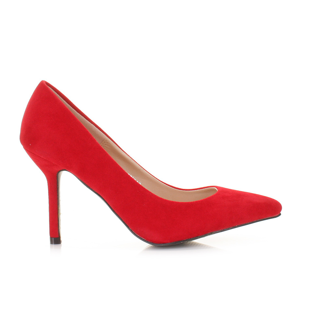 Red Shoes Mid Heel