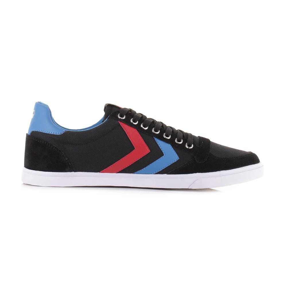 mens hummel slimmer stadil canvas low black blue red trainers shoes size ebay. Black Bedroom Furniture Sets. Home Design Ideas