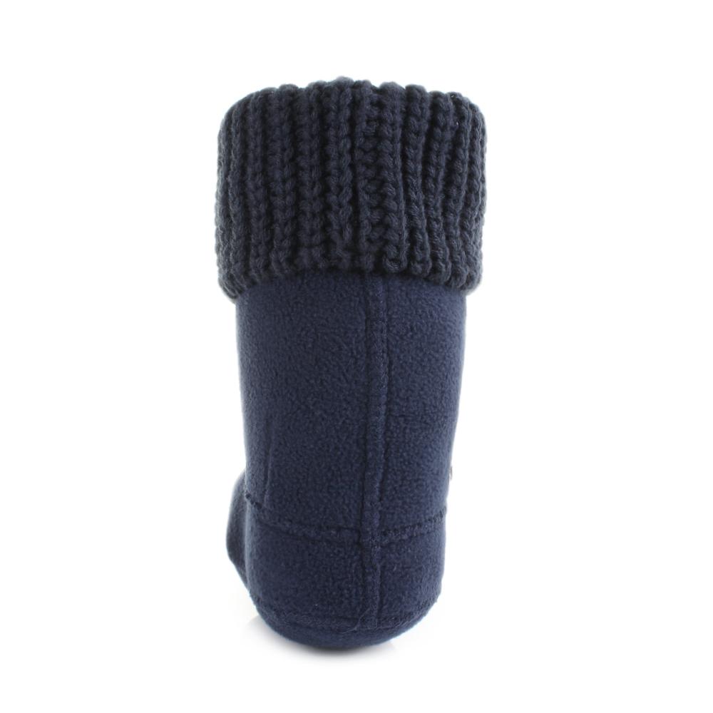 Free Knitting Pattern For Welly Socks : Kids Girls Hunter Half Cardigan Stitch Navy Fleece Welly ...