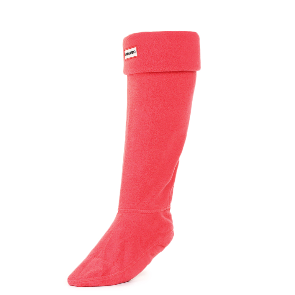 Womens Hunter Fleece Bright Coral Tall Welly Boot Socks UK ...