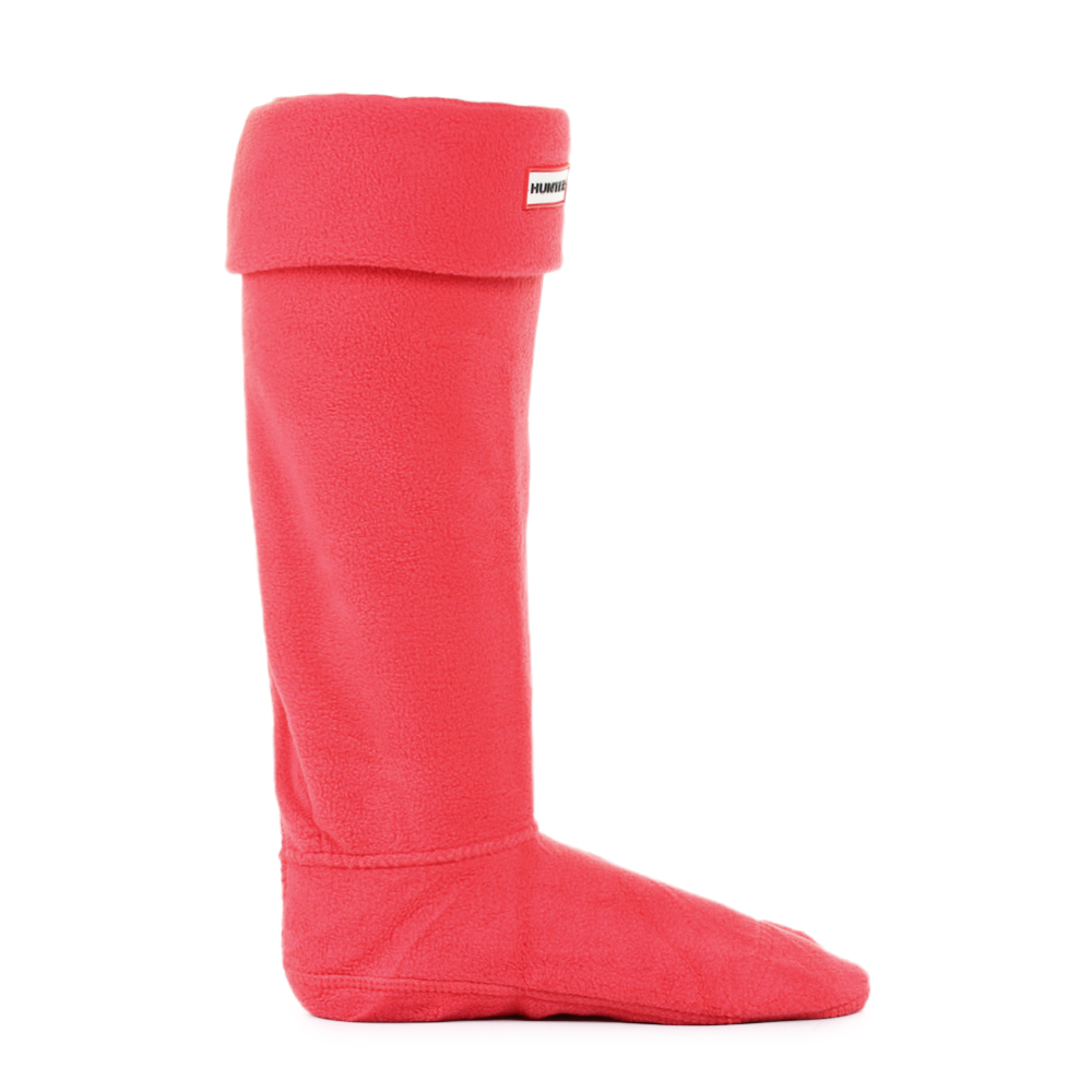 Womens Hunter Fleece Bright Coral Tall Welly Boot Socks ...