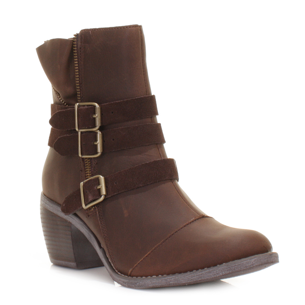 Cool BCBGeneration Rossy Women Leather Brown Ankle Boot Boots