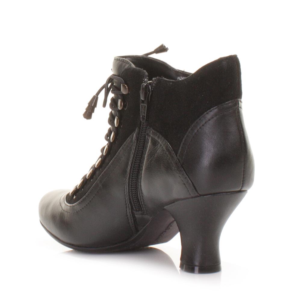 womens hush puppies vivianna black lace up vintage leather