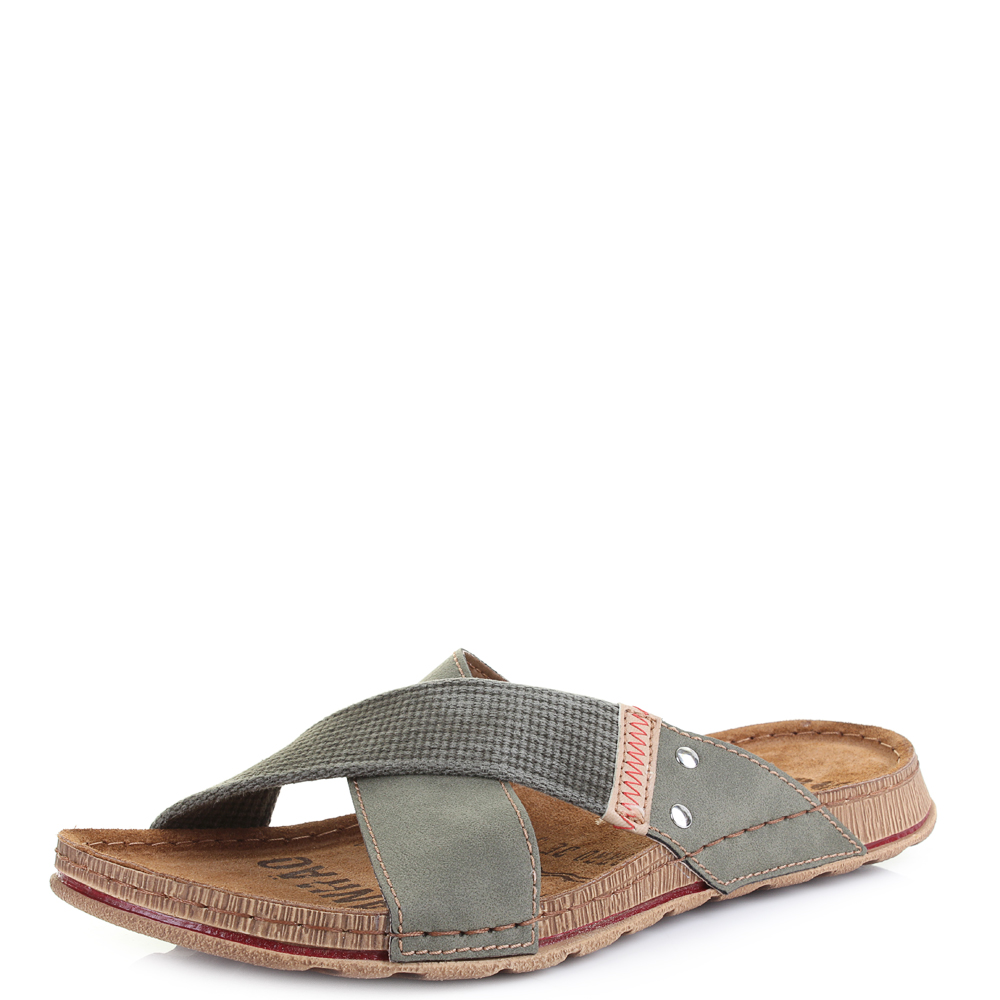 mens gg6 slip on crossover mule casual sandals uk