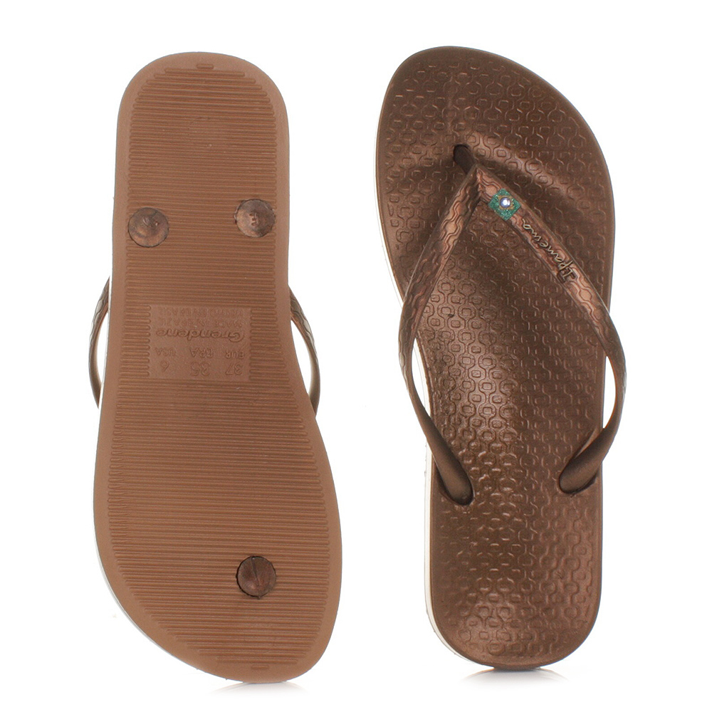 womens ladies ipanema beach brown flip flops holiday sandals size 3 8 ebay. Black Bedroom Furniture Sets. Home Design Ideas