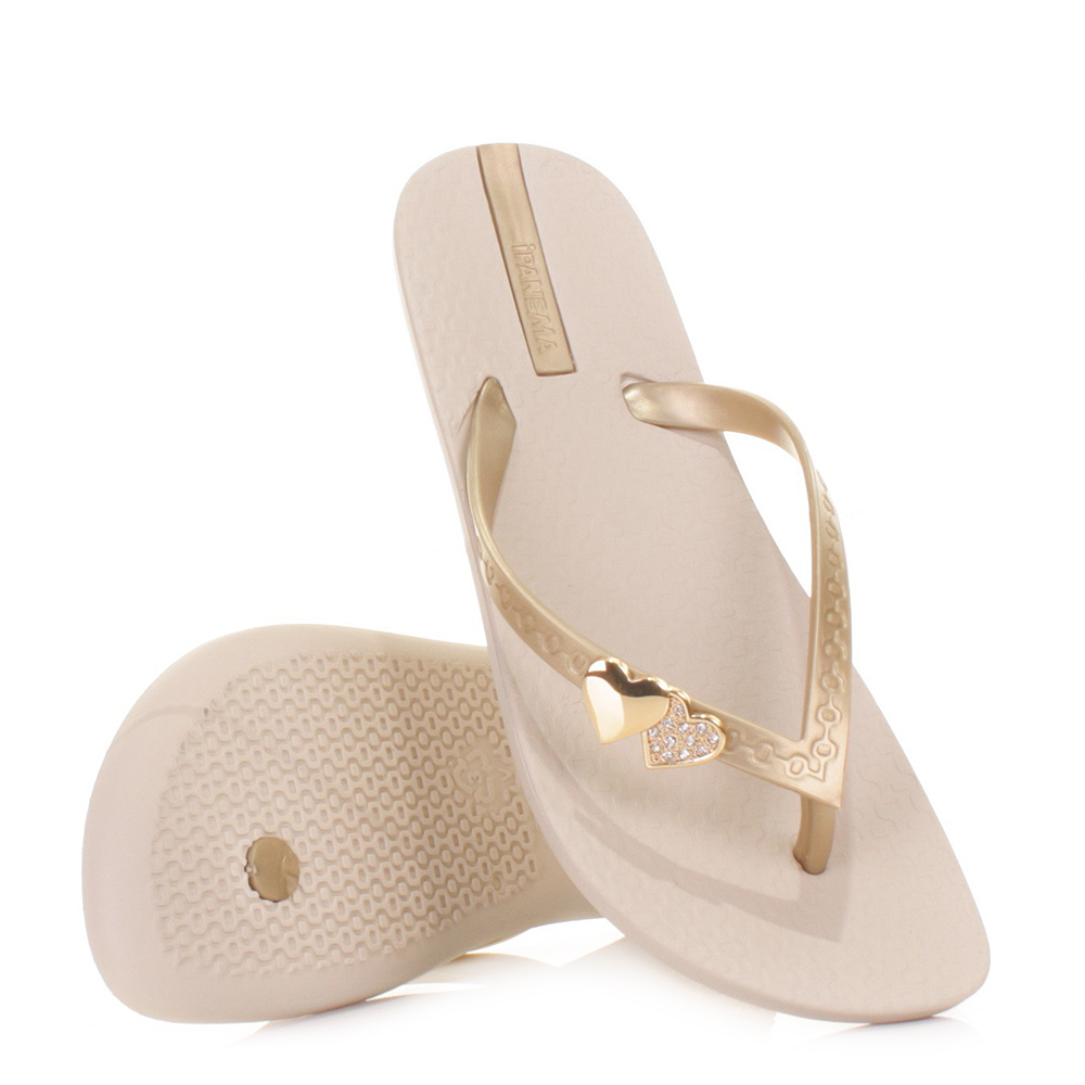 womens ipanema jewel beige love heart soft ladies sandals flip flops size 3 8 ebay. Black Bedroom Furniture Sets. Home Design Ideas