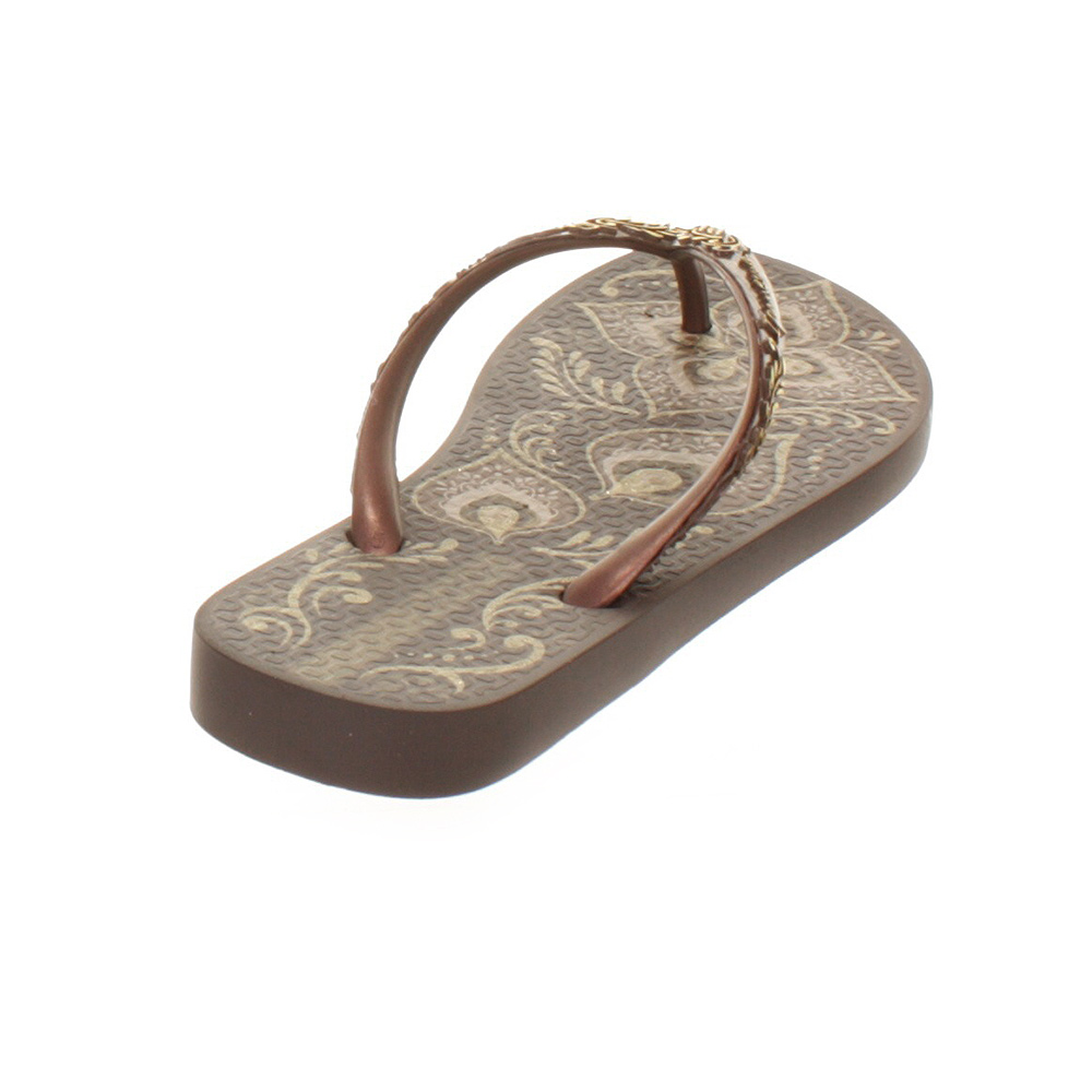 womens ipanema totem brown ladies decorative beach flip flops sandals size 3 8 ebay. Black Bedroom Furniture Sets. Home Design Ideas