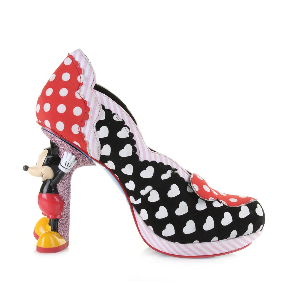 womens irregular choice minnie mouse black high heel