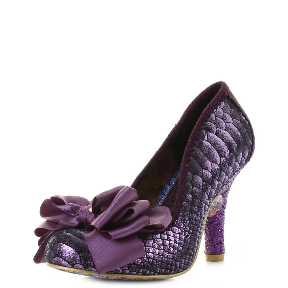 purple high heels