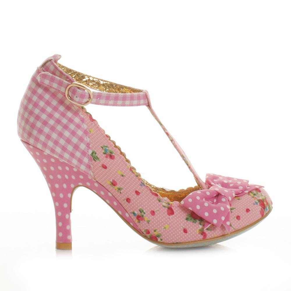Pink Mid Heel Shoes