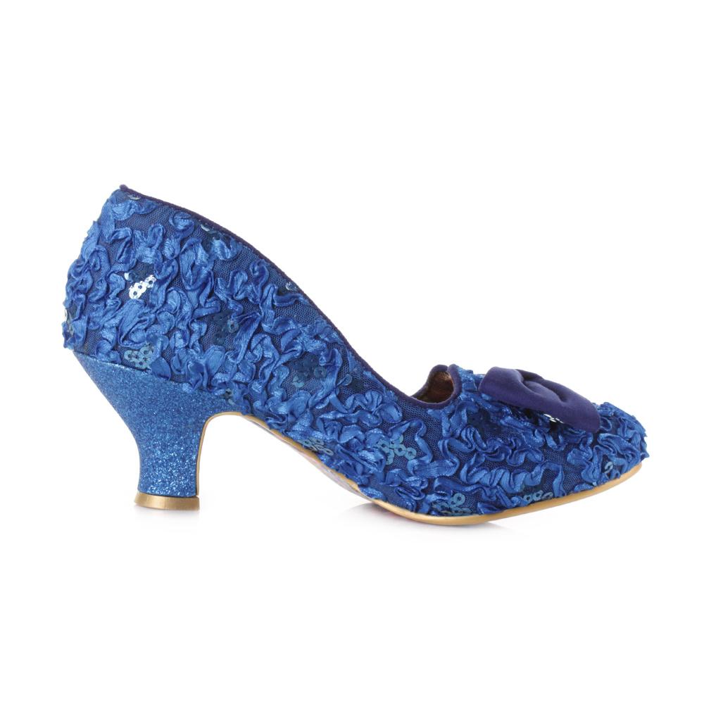 blue lace heels is heel