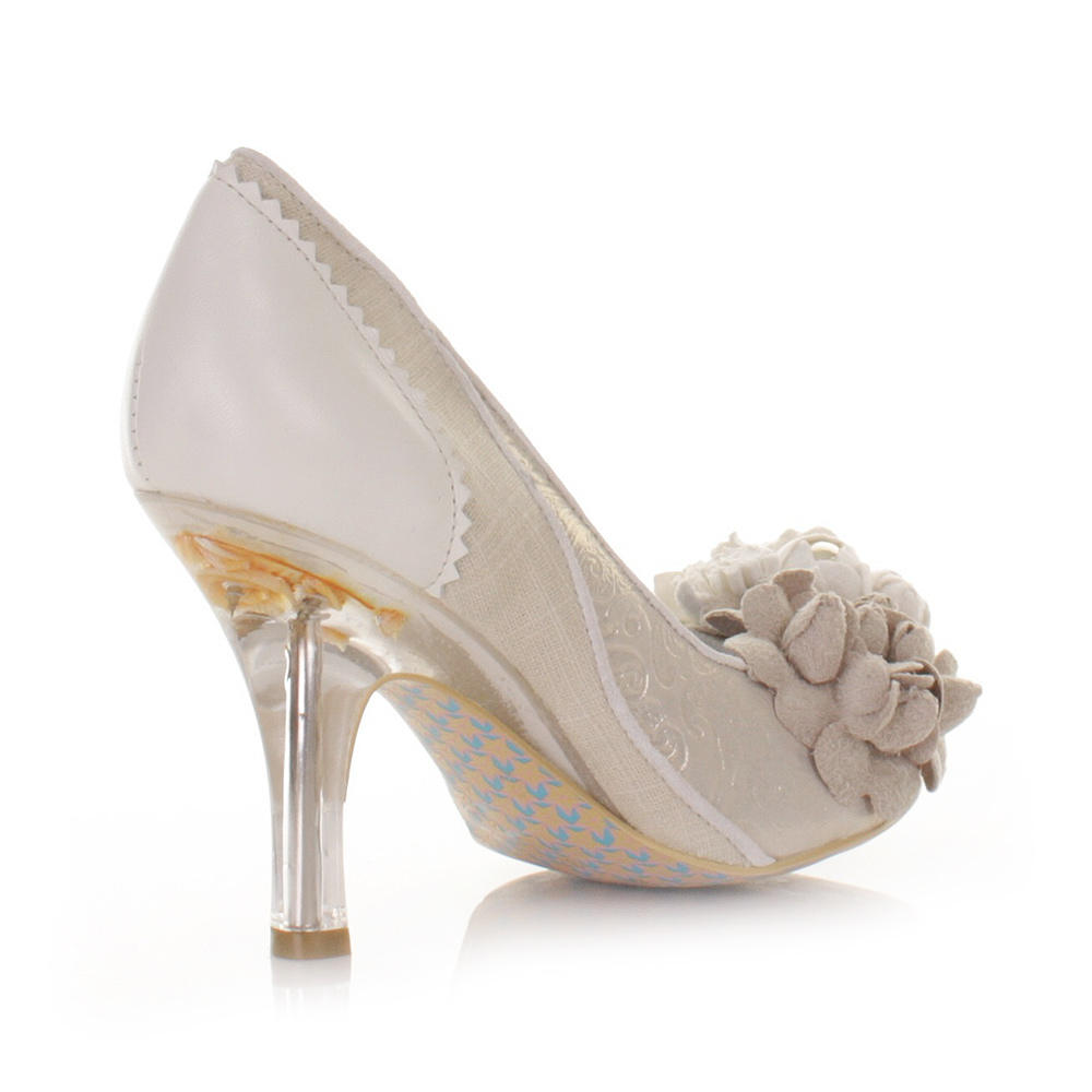 Womens Irregular Choice Mrs Lower Leather Suede Wedding Court Shoes Size 5 10