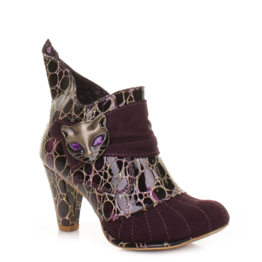 Details zu Damen Sexy High Heels Irregular Choice Violett mit Miau