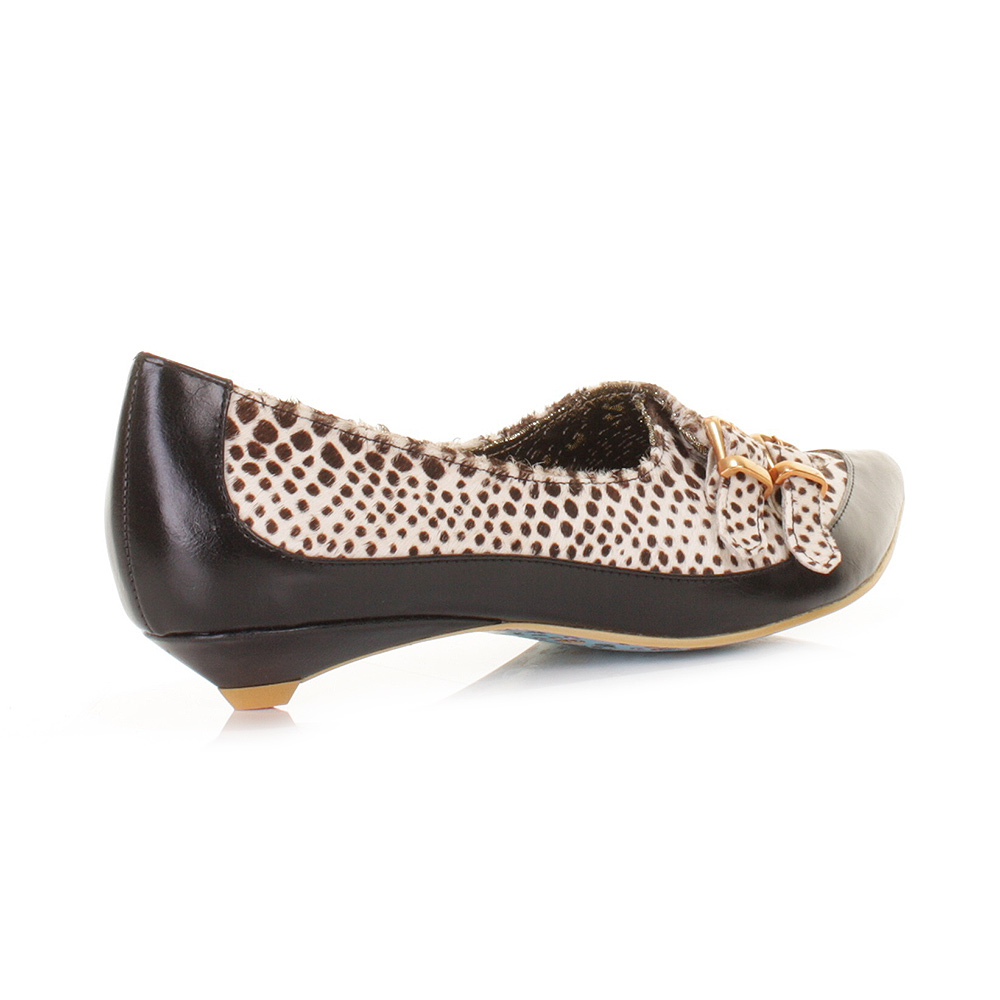 womens irregular choice sparkly cosmo white black pointed