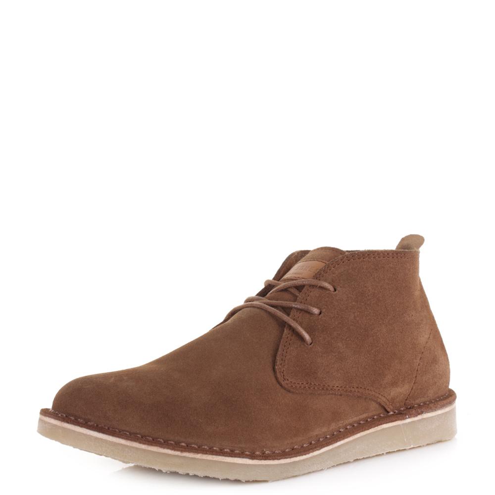 mens guys and jones darren desert boots suede cognac