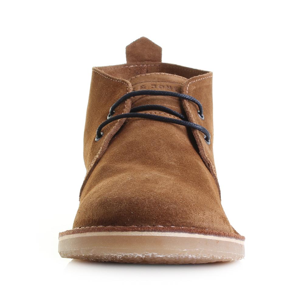 Mens Jack Jones Gobi Desert Boot Cognac Tan Brown Suede Leather ...
