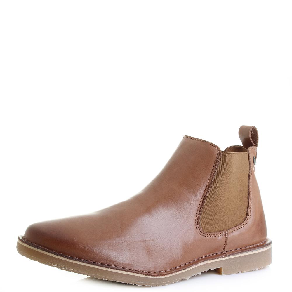 jones jfw leo leather cognac 12118710 mens chelsea boots shoes. Black Bedroom Furniture Sets. Home Design Ideas