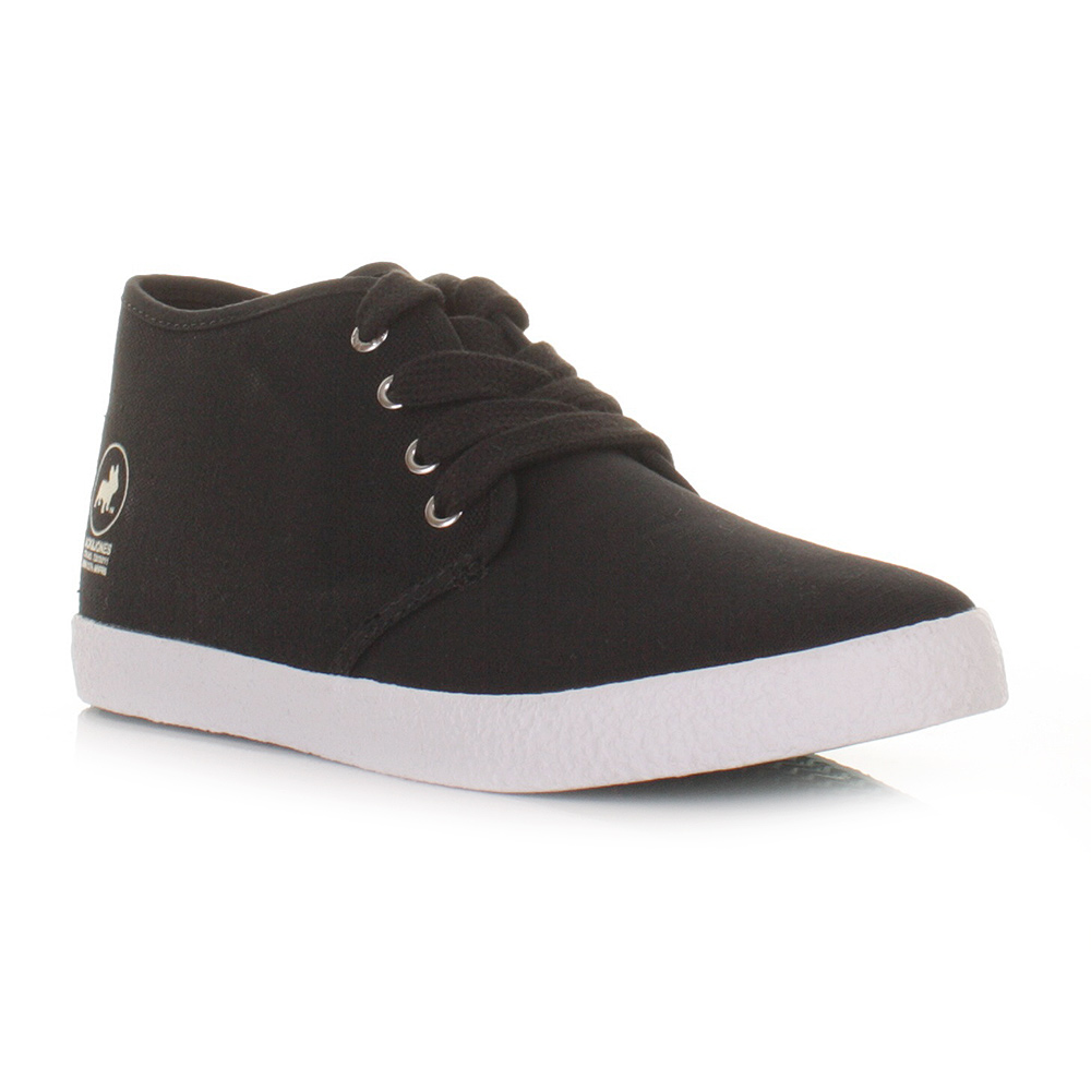 and jones mens oslo black canvas casual shoes chukka