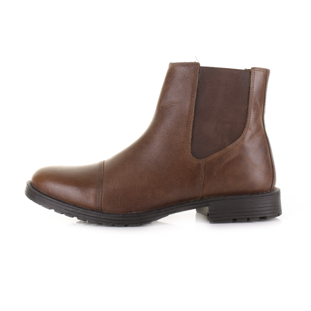 mens and jones radnor leather brown pull on casual