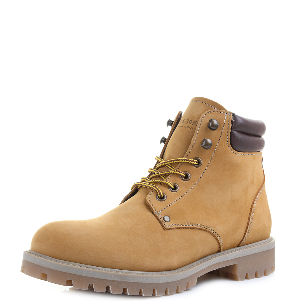 Mens Jack and Jones Stoke Nubuck Honey Classic Leather Work Boots ...