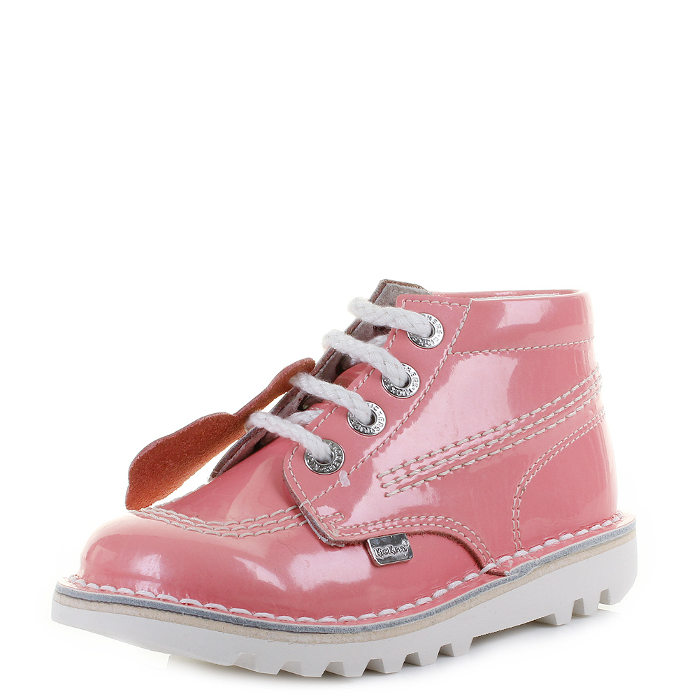Brilliant Kickers Adlar Legendry Lace Ankle Boots In Pink In Pink