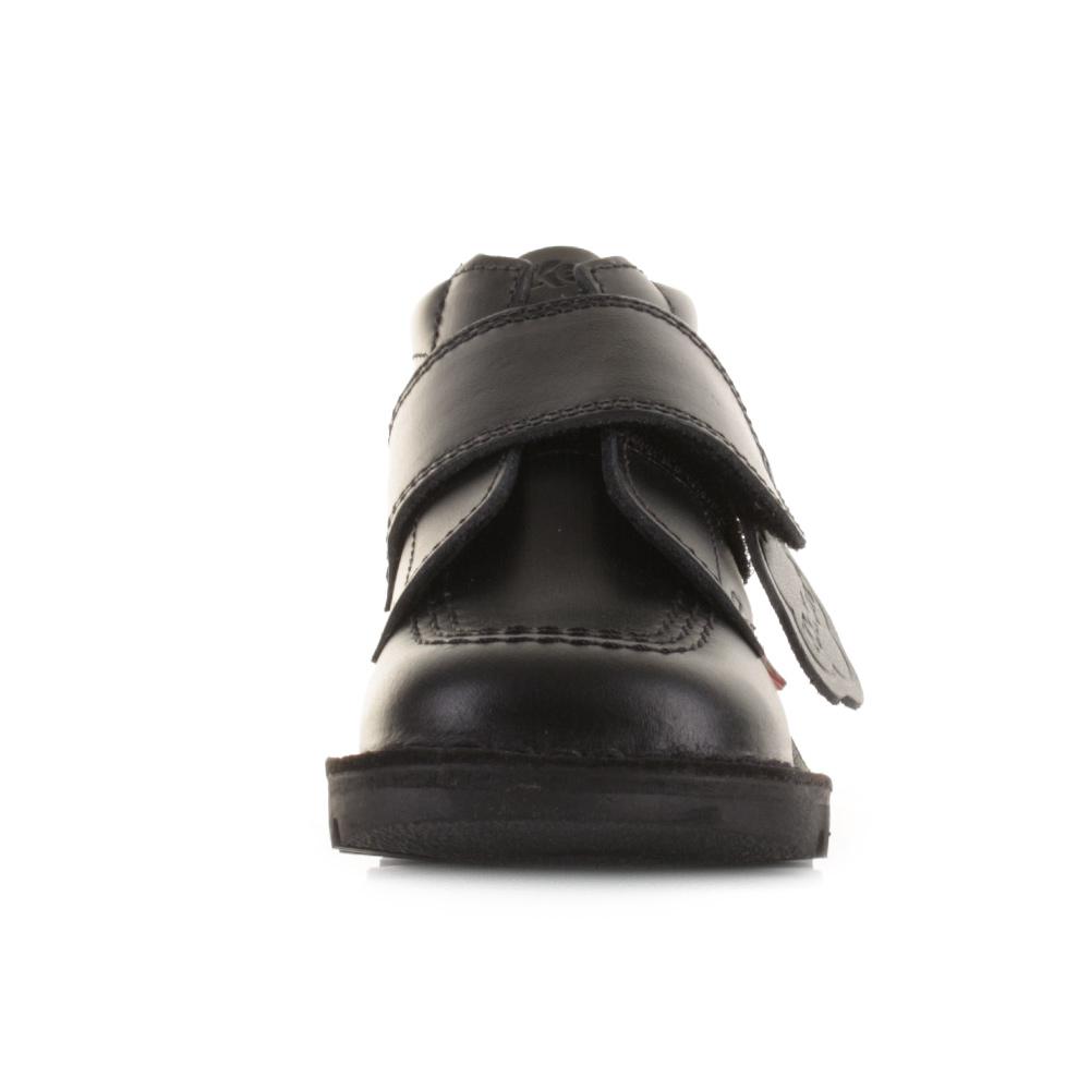 Black kicker sandals - Boys Kids Kickers Kick Kilo Infant Core Black Leather Shoe Boots Uk Size