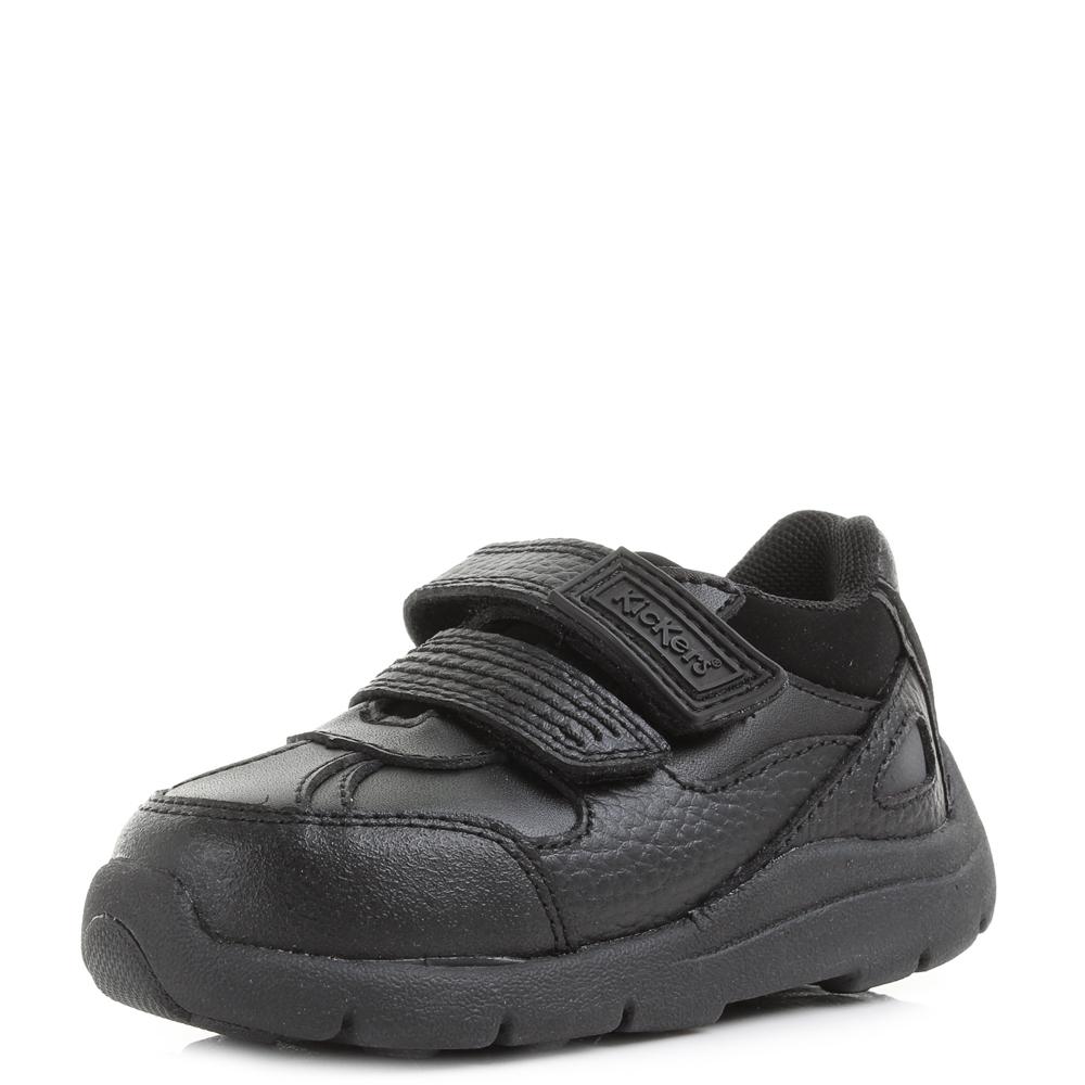 kids boys infant kickers moakie reflex black school shoes