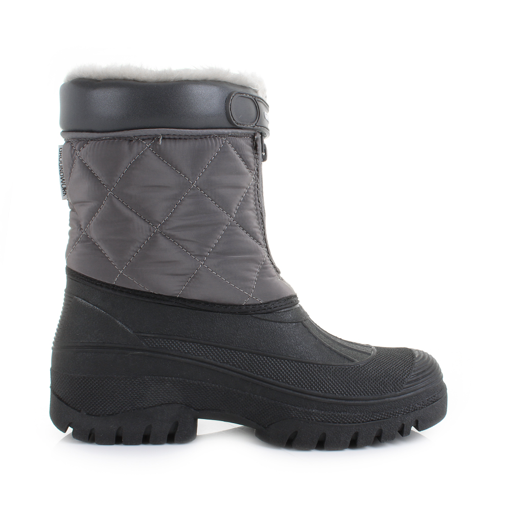 Awesome Womens Yard Quilted Faux Fur Lined Mukka Work Snow Winter Boots Shu Size | EBay