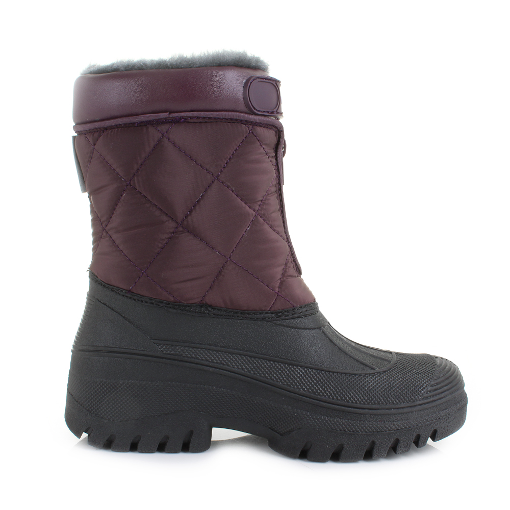 Womens Yard Quilted Faux Fur Lined Mukka Work Snow Winter Boots Shu Size | EBay