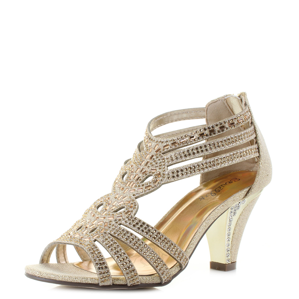 womens 5313 metallic glitter diamante prom