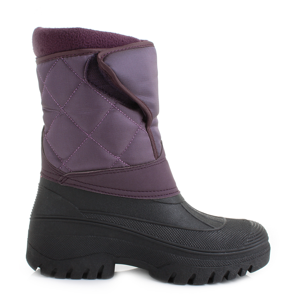 Luxury Womens Yard Quilted Faux Fur Lined Mukka Work Snow Winter Boots Shu Size | EBay