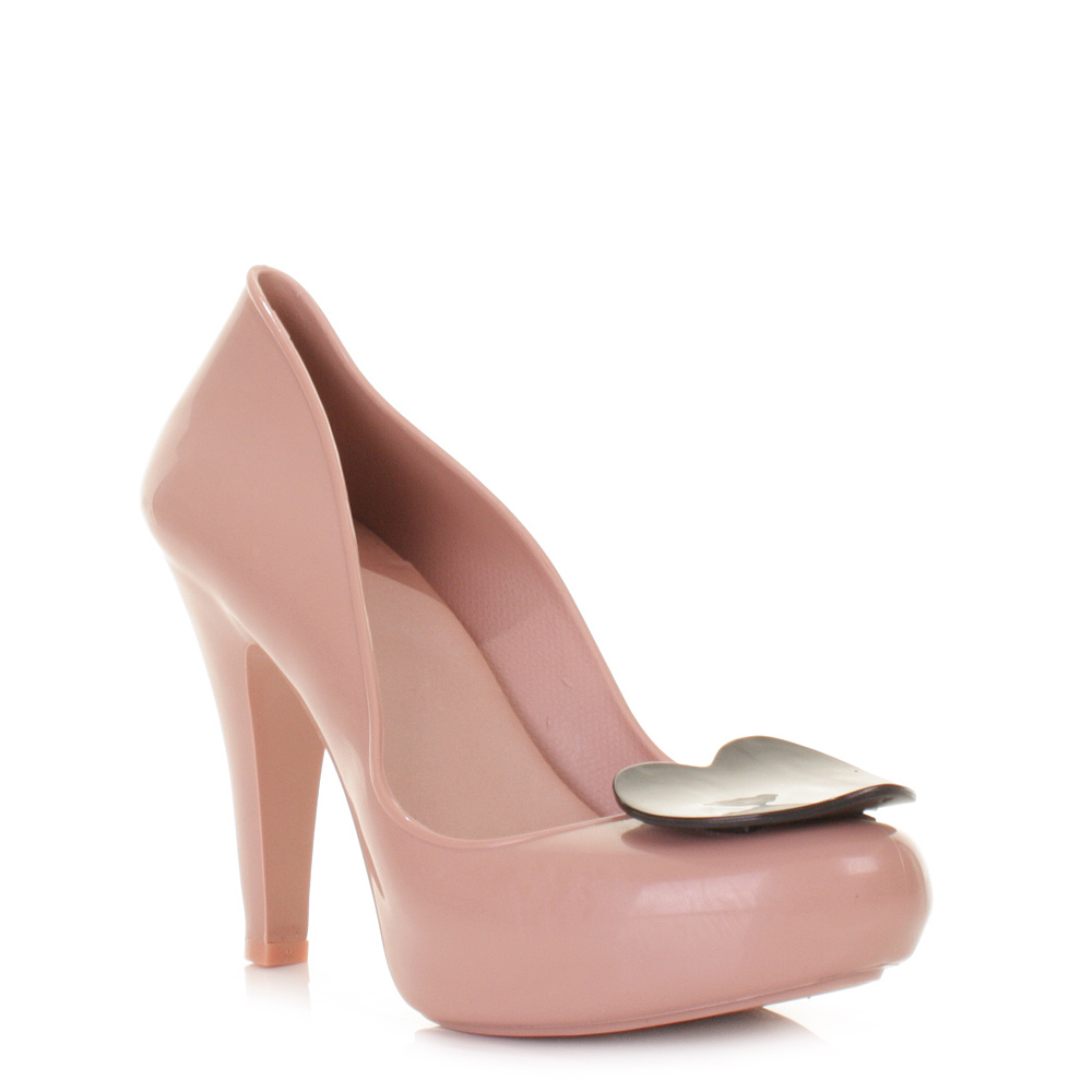 Nude High Heel Court Shoes