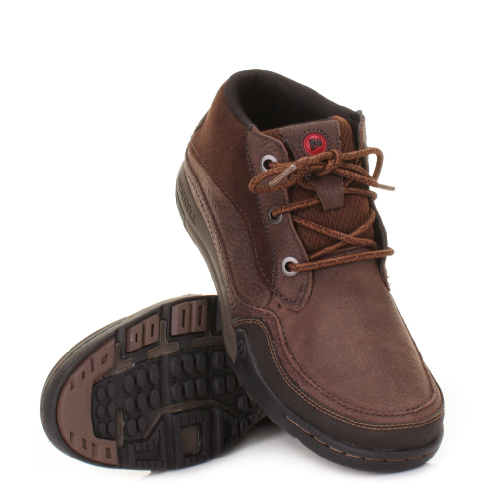 mens merrell mountain kicks bracken leather hiking casual
