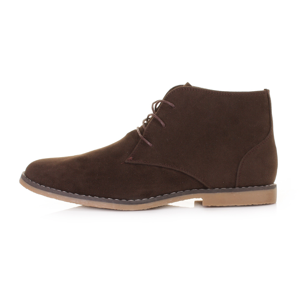 mens brown suede boots