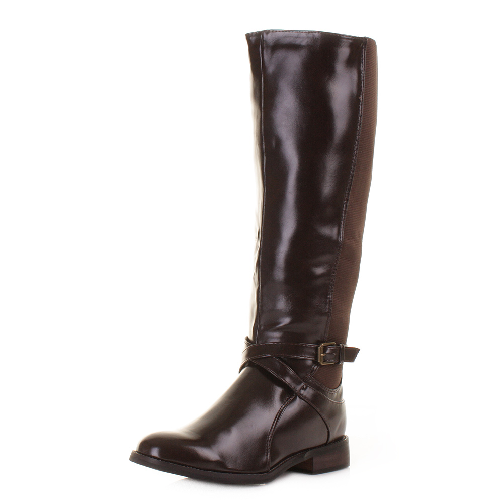 womens brown wider wide fit calf stretch